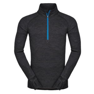 Zajo Bergen Merino Zip Top LS Black