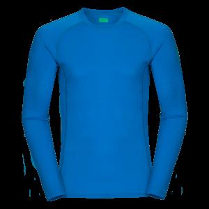 Zajo Bjorn Merino Tshirt LS Blue