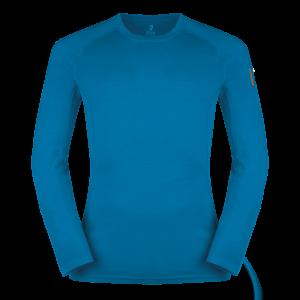 Zajo Bjorn Merino Tshirt LS – Greek Blue/Blue Jewel/Poseidon Blue