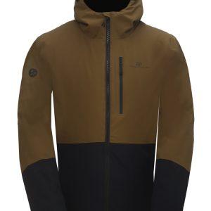 2117 GÄRDET – ECO pánska ľahko zateplená lyžiarska bunda – Army green/ Navy