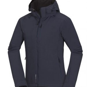 Pánska softshell lyžiarská bunda Northfinder DENVER – blue/grey