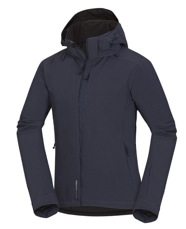 Pánska softshell lyžiarská bunda Northfinder DENVER - blue/grey 1