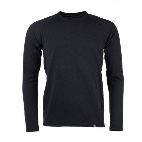NORTHFINDER pánske tričko merino dlhý rukáv DONALD - Black melange 1
