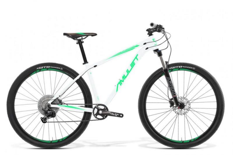 """Bicykel AMULET Night cat 4.0 29"""" 2021, white shiny/mint shiny 1"""