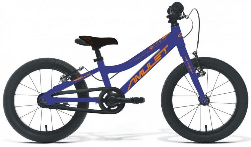 "Bicykel AMULET Mini SuperLite 16"" 2021, dark blue metalic/orange shiny 1"