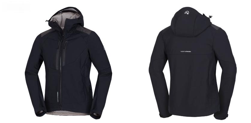 Northfinder pánska bunda stretch softshell all-weather 3L BROSDY - BLACK/TOMATO 1