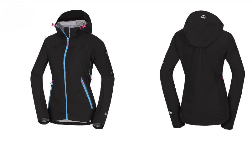 Northfinder dámska outdoorová bunda softshellová ROSTLA black 1