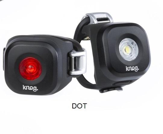 KNOG Blinder MINI Twinpack - Sada predná a zadná blikačka 3