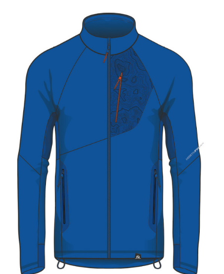 NORTHFINDER Pánska mikina Polartec Power Stretch KREMENEC BLUE/ORANGE 1
