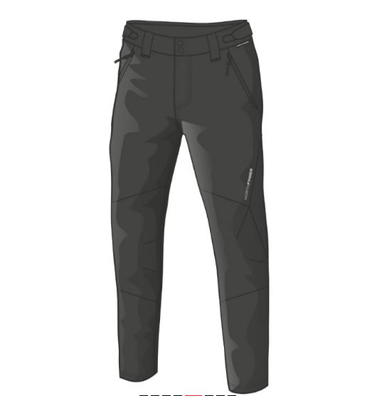 NORTHFINDER Pánske strečové nohavice outdoor s Rib-štruktúrou RAUL - BLACK 1