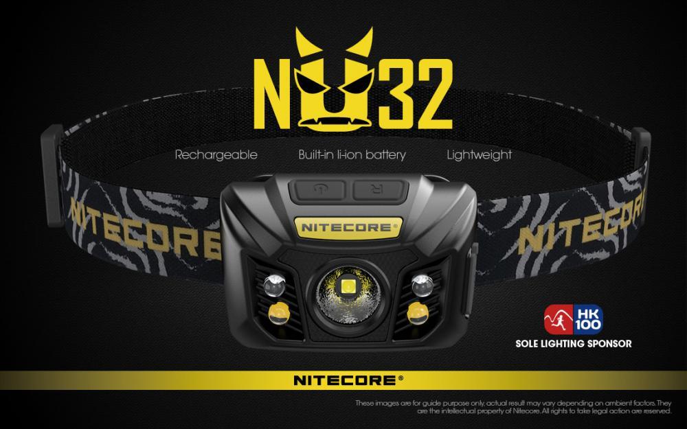 Svietidlo NITECORE NU32 čelovka black - čierna 1