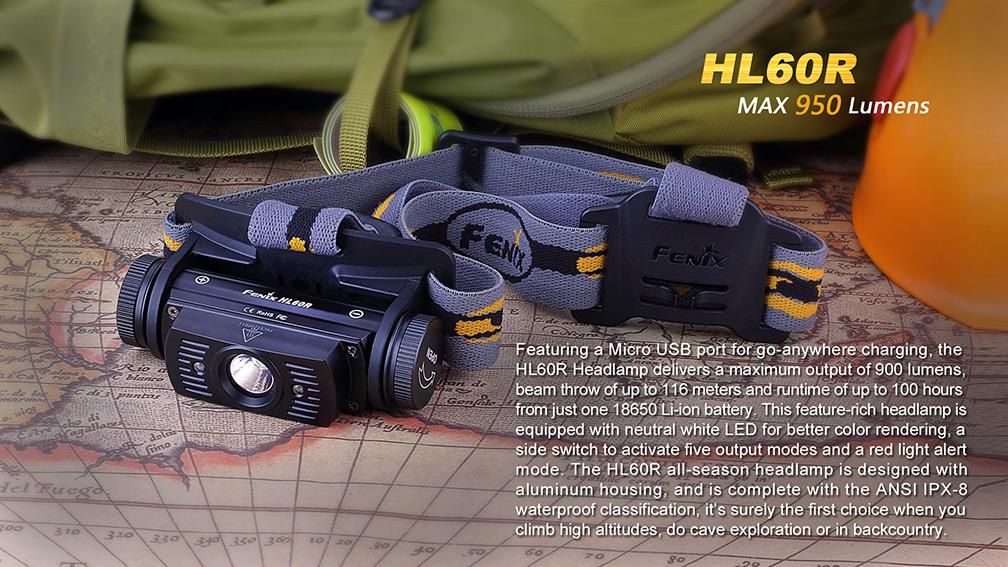 Nabíjecí čelovka Fenix HL60R 3