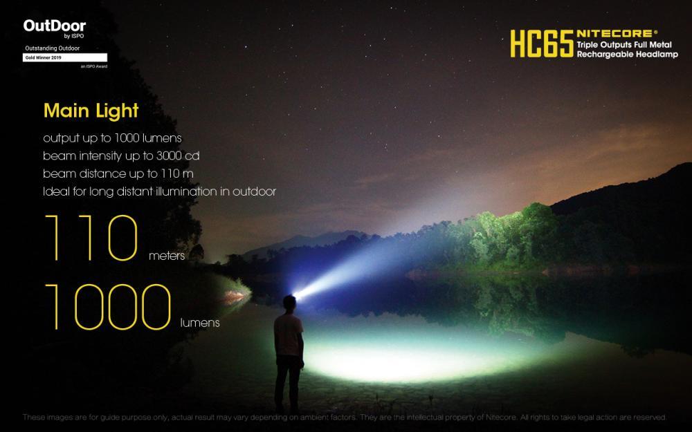 NITECORE HC65 čelovka 5